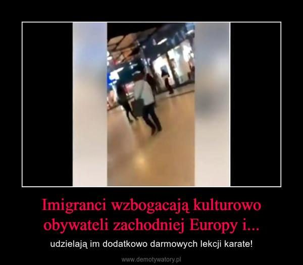 Imigranci wzbogacają kulturowo obywateli zachodniej Europy i... – udzielają im dodatkowo darmowych lekcji karate!