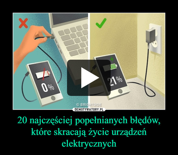 20 najczęściej popełnianych błędów, które skracają życie urządzeń elektrycznych –