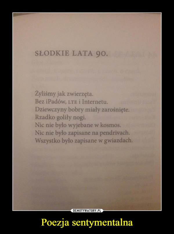 Poezja sentymentalna –