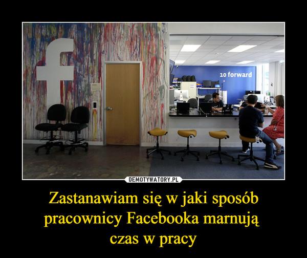 Zastanawiam się w jaki sposób pracownicy Facebooka marnują czas w pracy –
