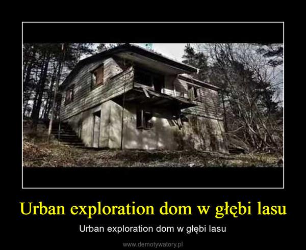 Urban exploration dom w głębi lasu – Urban exploration dom w głębi lasu