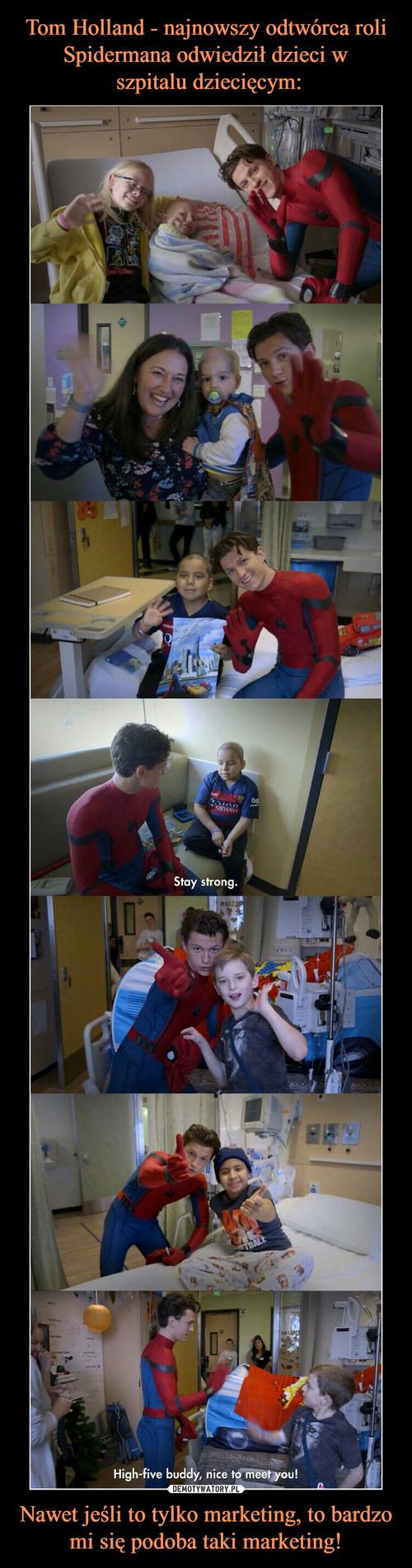 Tom Holland - najnowszy odtwórca roli Spidermana odwiedził dzieci w  szpitalu dziecięcym: Nawet jeśli to tylko marketing, to bardzo mi się podoba taki marketing!