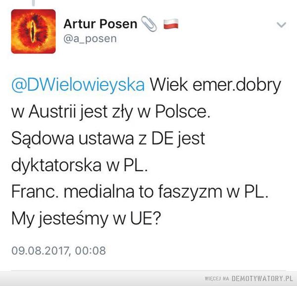 Powalająca logika eurokratów – eurokraci, logika, wielowieyska, Polska, unia