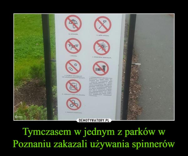 Tymczasem w jednym z parków w Poznaniu zakazali używania spinnerów –