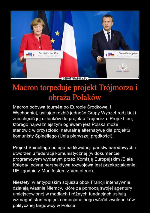 Macron torpeduje projekt Trójmorza i obraża Polaków