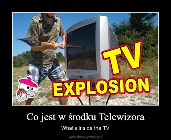 Co jest w środku Telewizora – What's inside the TV
