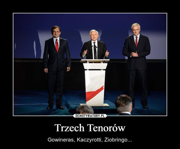 Trzech Tenorów – Gowineras, Kaczyrotti, Ziobringo...