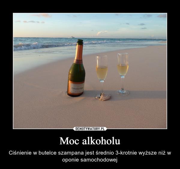 Moc alkoholu – Ciśnienie w butelce szampana jest średnio 3-krotnie wyższe niż w oponie samochodowej