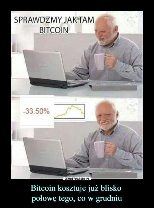 Bitcoin kosztuje już blisko połowę tego, co w grudniu –  SPRAWDŹMY JAK TAM BITCOIN -33.50%