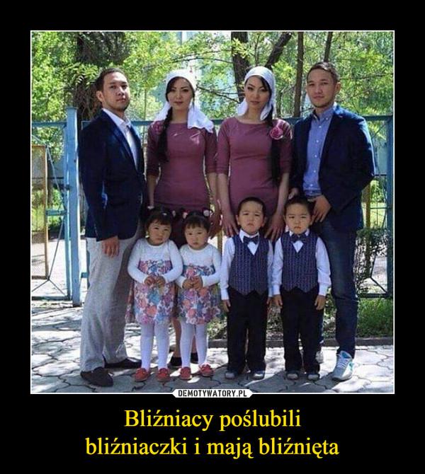 Bliźniacy poślubilibliźniaczki i mają bliźnięta –
