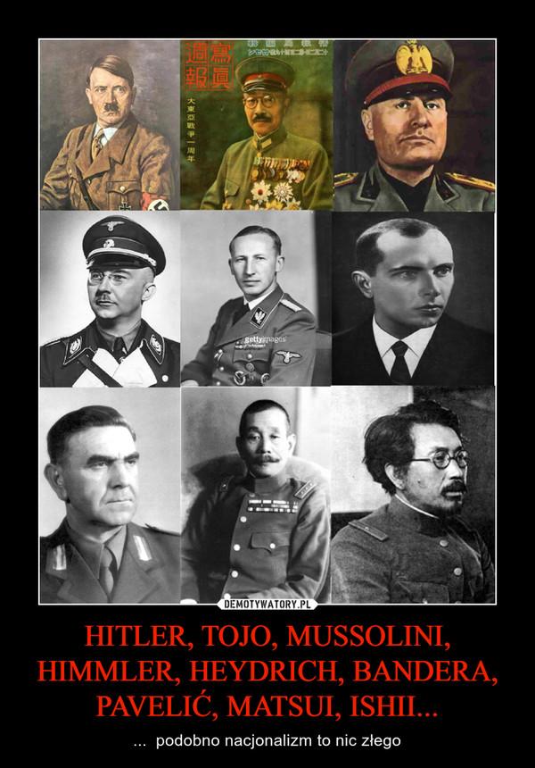 HITLER, TOJO, MUSSOLINI, HIMMLER, HEYDRICH, BANDERA, PAVELIĆ, MATSUI, ISHII... – ...  podobno nacjonalizm to nic złego