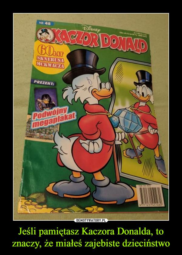 Jeśli pamiętasz Kaczora Donalda, to znaczy, że miałeś zajebiste dzieciństwo –  Kaczor DonaldPodwójny megaplakat