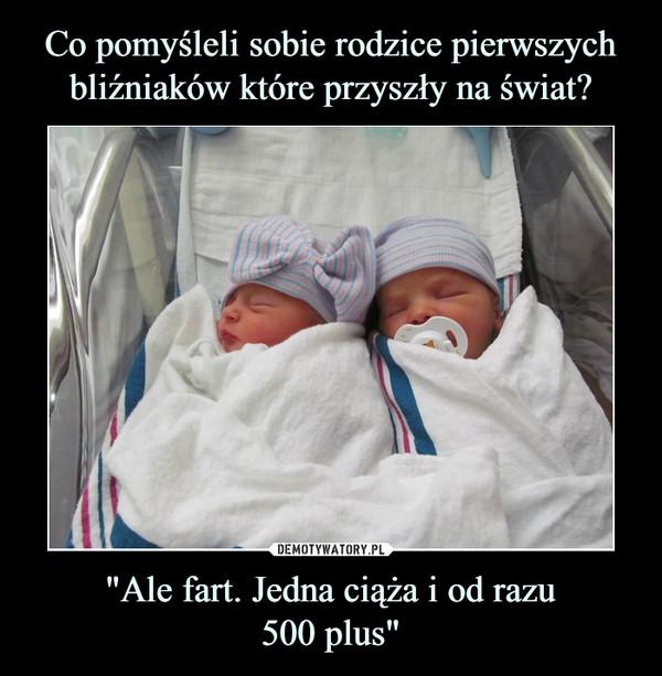 """""""Ale fart. Jedna ciąża i od razu500 plus"""" –"""