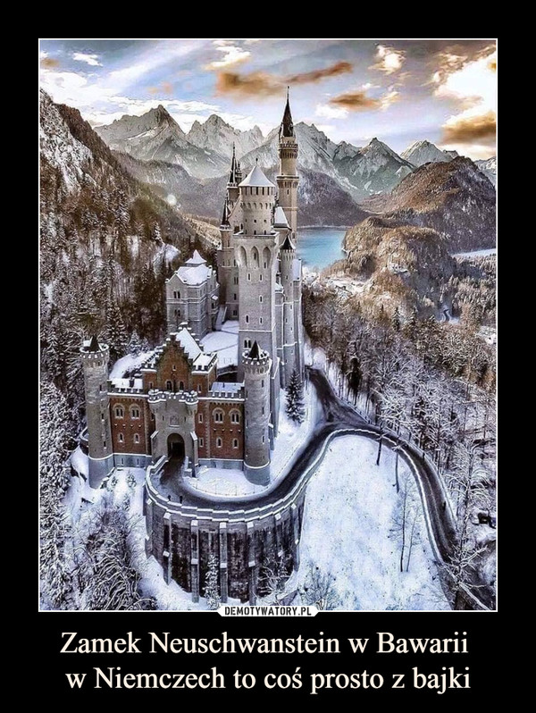 Zamek Neuschwanstein w Bawarii w Niemczech to coś prosto z bajki –