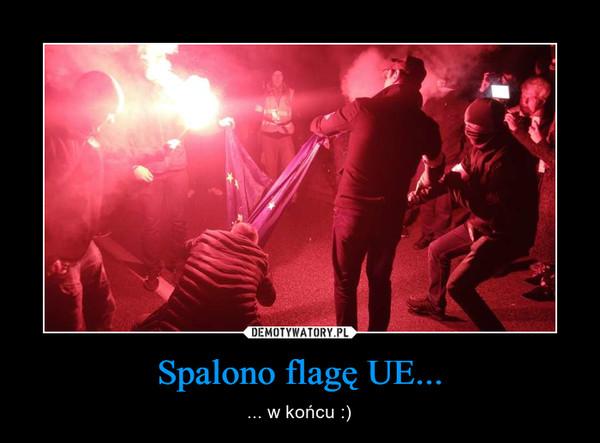Spalono flagę UE... – ... w końcu :)