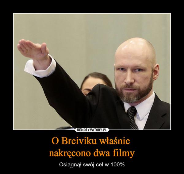 O Breiviku właśnie nakręcono dwa filmy – Osiągnął swój cel w 100%