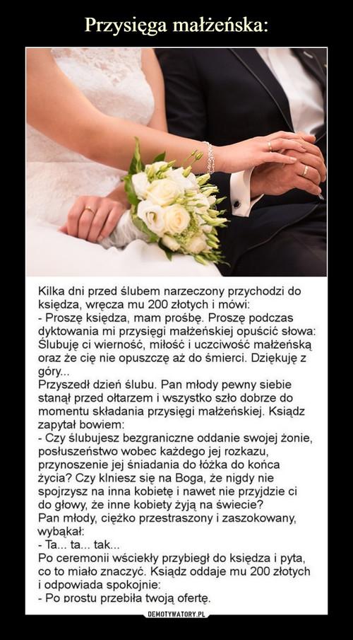 Przysięga małżeńska:
