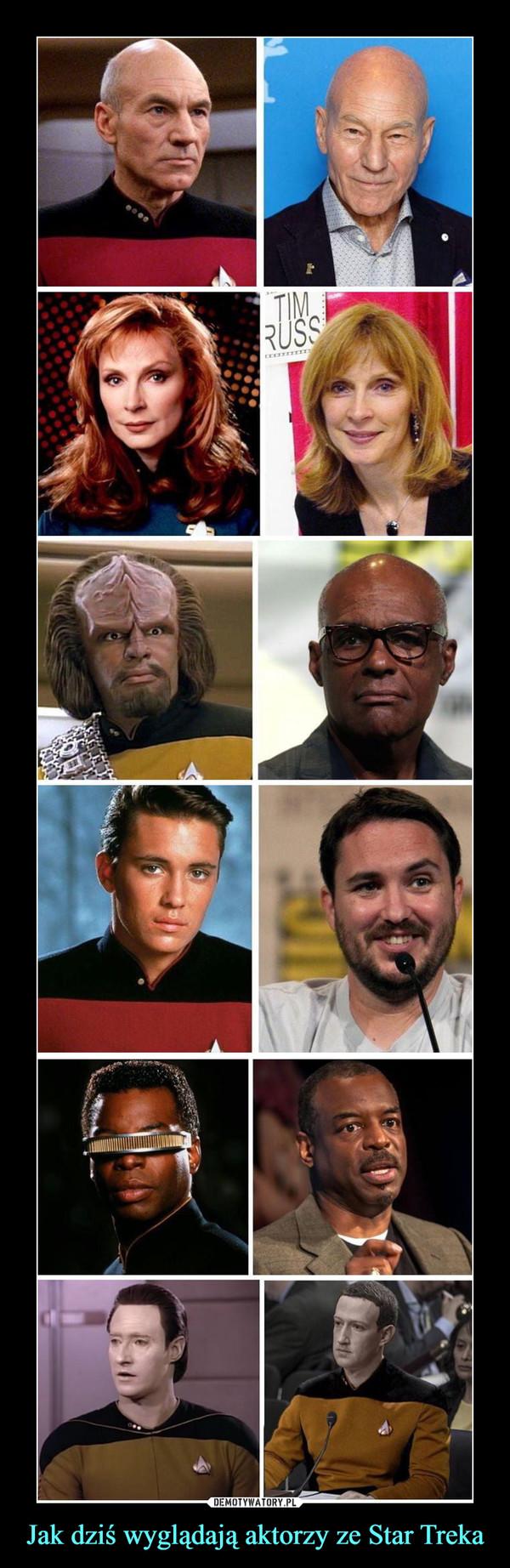 Jak dziś wyglądają aktorzy ze Star Treka –