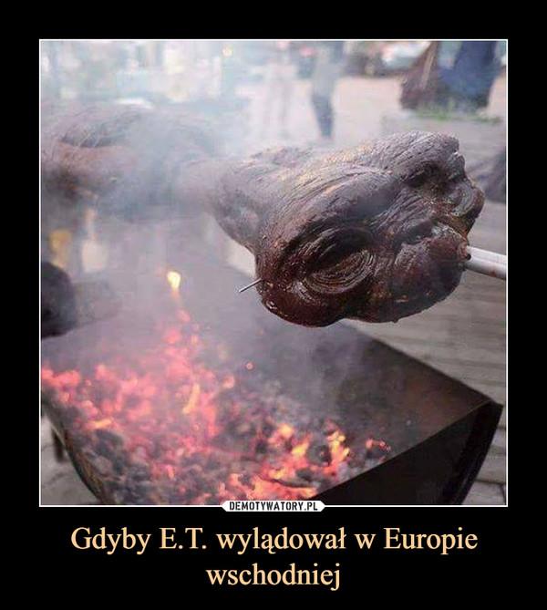 Gdyby E.T. wylądował w Europie wschodniej –