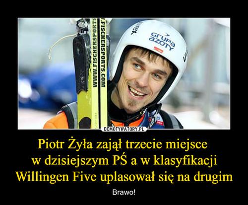 Piotr Żyła zajął trzecie miejsce  w dzisiejszym PŚ a w klasyfikacji Willingen Five uplasował się na drugim