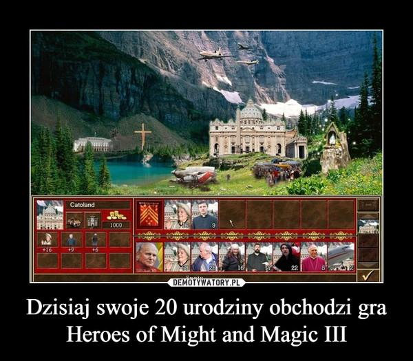 Dzisiaj swoje 20 urodziny obchodzi gra Heroes of Might and Magic III –