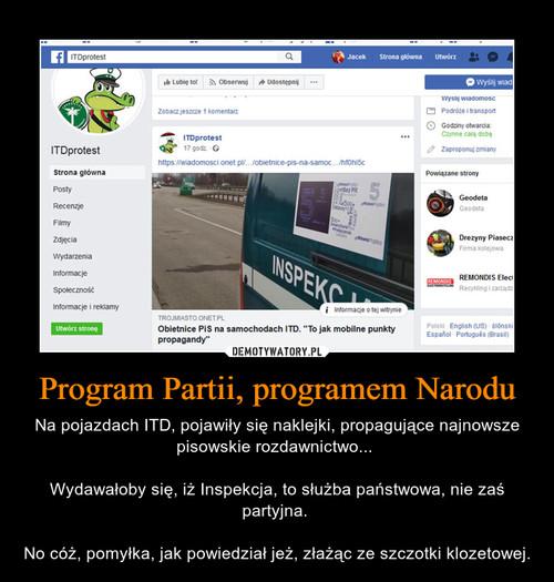 Program Partii, programem Narodu