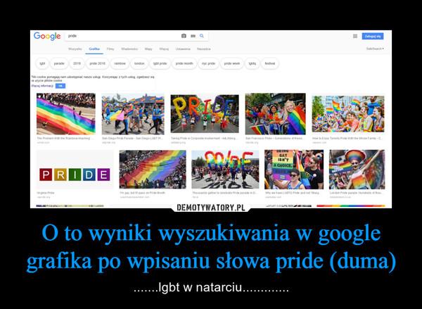 O to wyniki wyszukiwania w google grafika po wpisaniu słowa pride (duma) – .......lgbt w natarciu.............