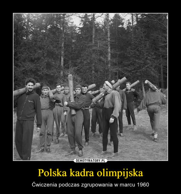 Polska kadra olimpijska – Ćwiczenia podczas zgrupowania w marcu 1960