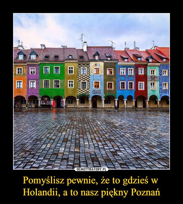 Pomyślisz pewnie, że to gdzieś w Holandii, a to nasz piękny Poznań –