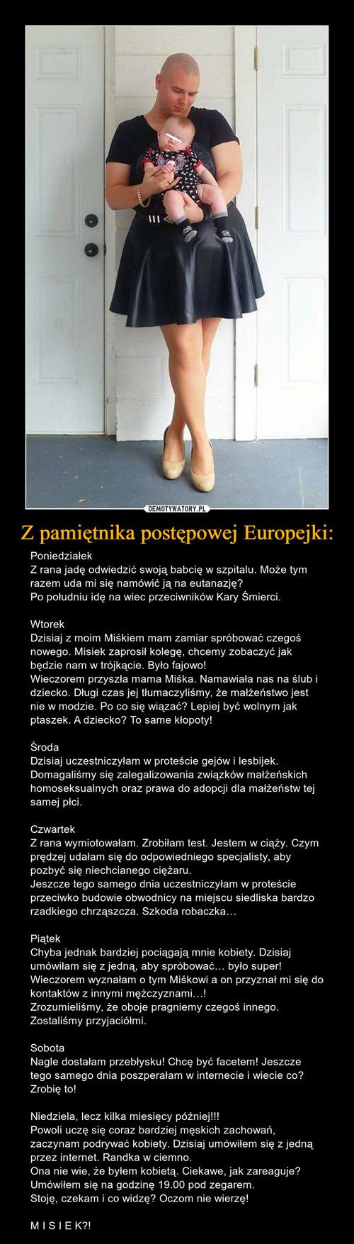 Z pamiętnika postępowej Europejki:
