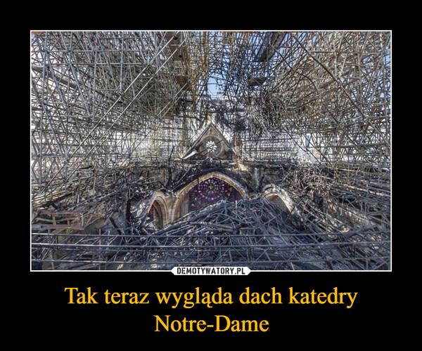 Tak teraz wygląda dach katedry Notre-Dame –