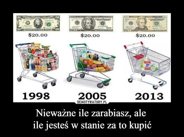 Nieważne ile zarabiasz, ale ile jesteś w stanie za to kupić –