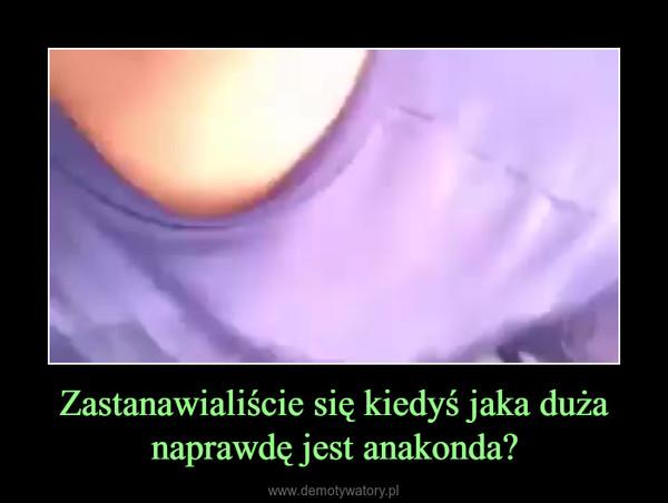 Zastanawialiście się kiedyś jaka duża naprawdę jest anakonda? –
