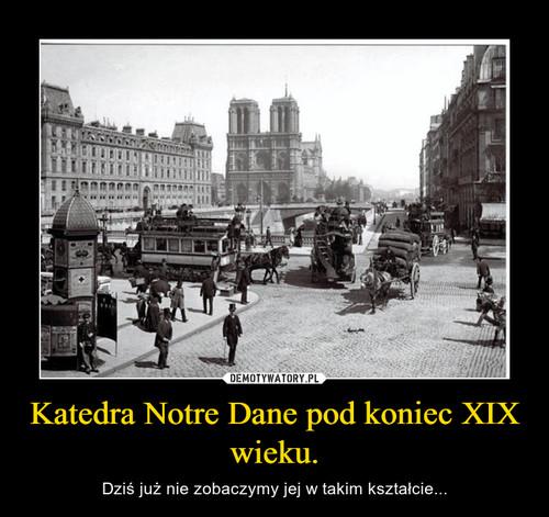 Katedra Notre Dane pod koniec XIX wieku.
