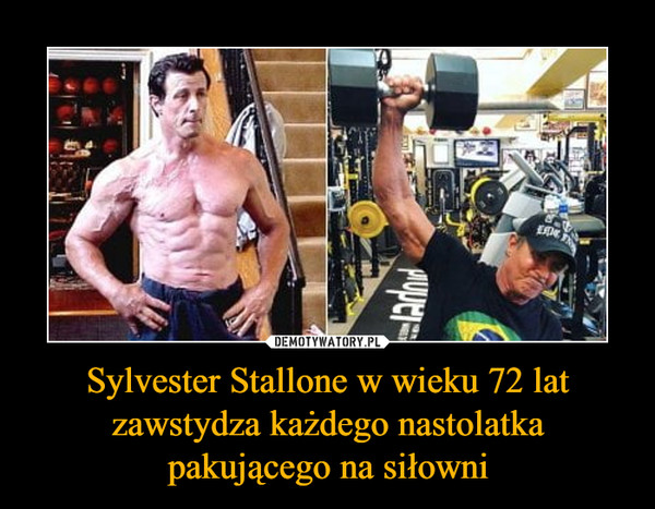 Sylvester Stallone w wieku 72 lat zawstydza każdego nastolatka pakującego na siłowni –
