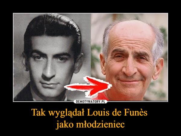 Tak wyglądał Louis de Funès jako młodzieniec –