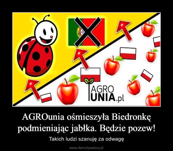 AGROunia ośmieszyła Biedronkę podmieniając jabłka. Będzie pozew! – Takich ludzi szanuję za odwagę