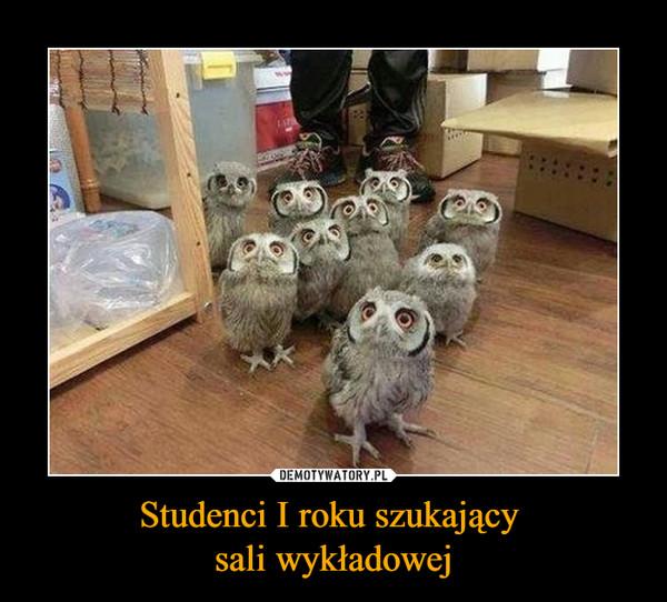 Studenci I roku szukający sali wykładowej –