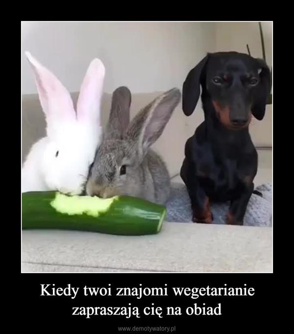 Kiedy twoi znajomi wegetarianie zapraszają cię na obiad –