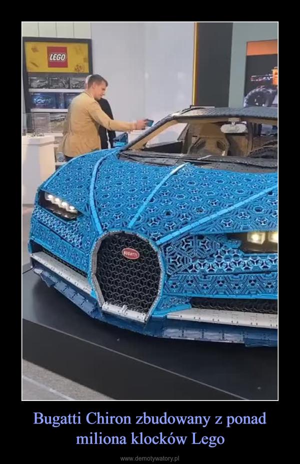 Bugatti Chiron zbudowany z ponad miliona klocków Lego –