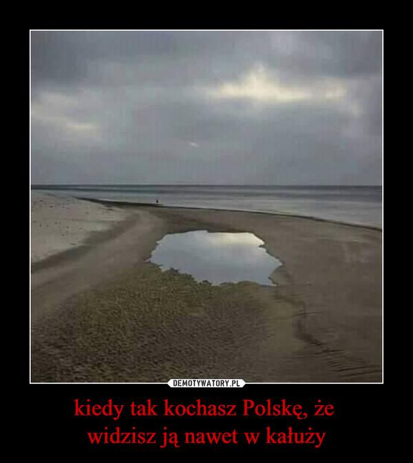 kiedy tak kochasz Polskę, że widzisz ją nawet w kałuży –