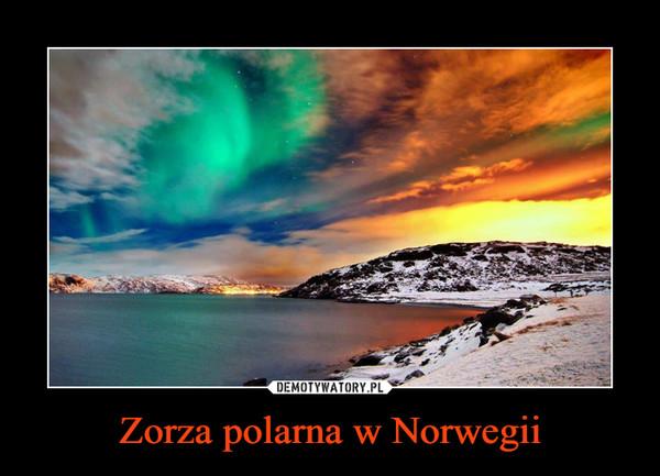 Zorza polarna w Norwegii –