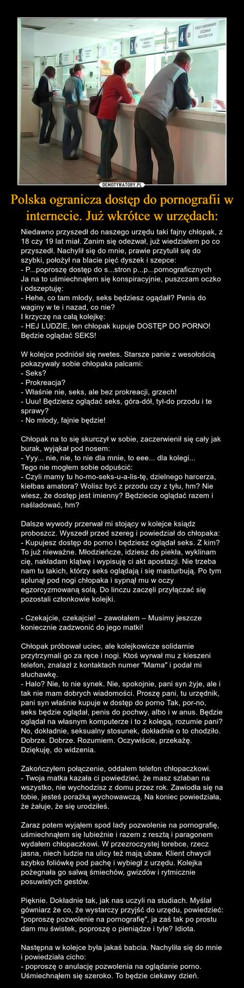 Polska ogranicza dostęp do pornografii w internecie. Już wkrótce w urzędach: