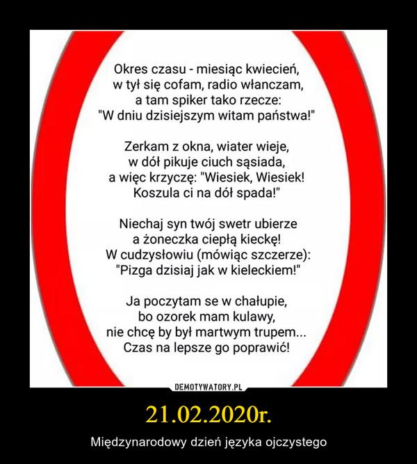 21.02.2020r. – Międzynarodowy dzień języka ojczystego