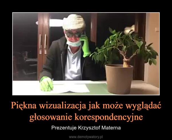 Piękna wizualizacja jak może wyglądać głosowanie korespondencyjne – Prezentuje Krzysztof Materna