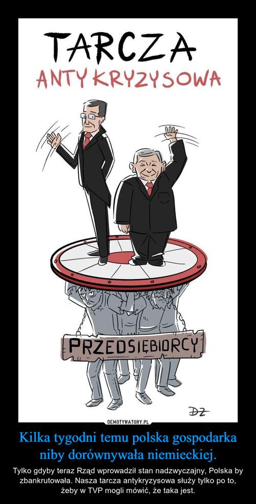 Kilka tygodni temu polska gospodarka niby dorównywała niemieckiej.