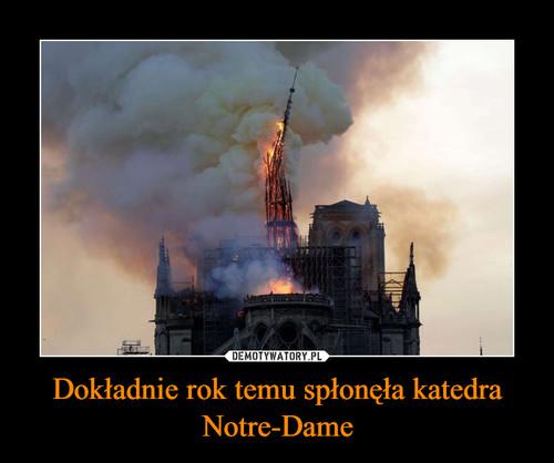 Dokładnie rok temu spłonęła katedra Notre-Dame