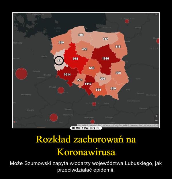 Rozkład zachorowań na Koronawirusa – Może Szumowski zapyta włodarzy województwa Lubuskiego, jak przeciwdziałać epidemii.