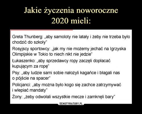 Jakie życzenia noworoczne 2020 mieli: