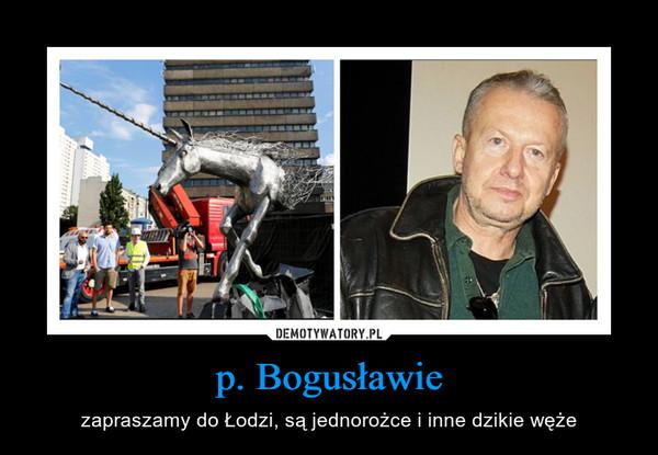 p. Bogusławie – zapraszamy do Łodzi, są jednorożce i inne dzikie węże